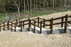 Civils - Timber Handrail - Chemical Fixing - Environment Agency