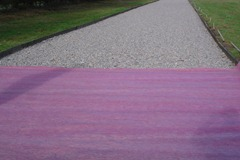 Exercise Track - Timber Edging - 650 Geotextile - Waxed Surface - Construction