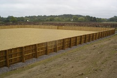 Polo arena - construction - aspahlt - polo fence - refurb