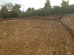 40m x 20m Manege - big cut and fill - sand and rubber