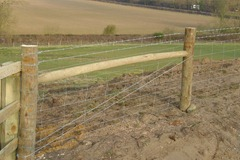 stock net fencing - rabbit netting - ditching